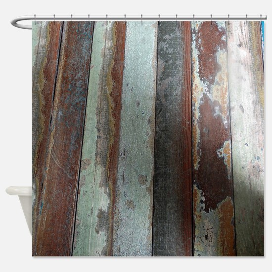 Vintage Wooden Planks Shower Curtain