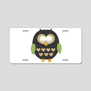 Sleeping owl Aluminum License Plate