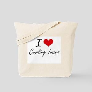 I love Curling Irons Tote Bag