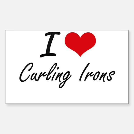 I love Curling Irons Decal