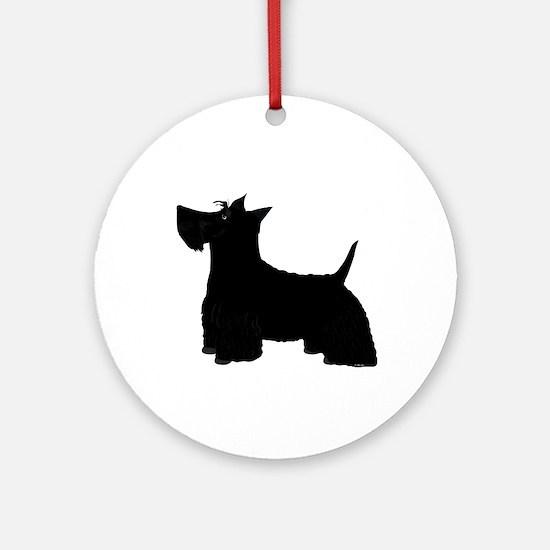 Scottish Terrier Round Ornament