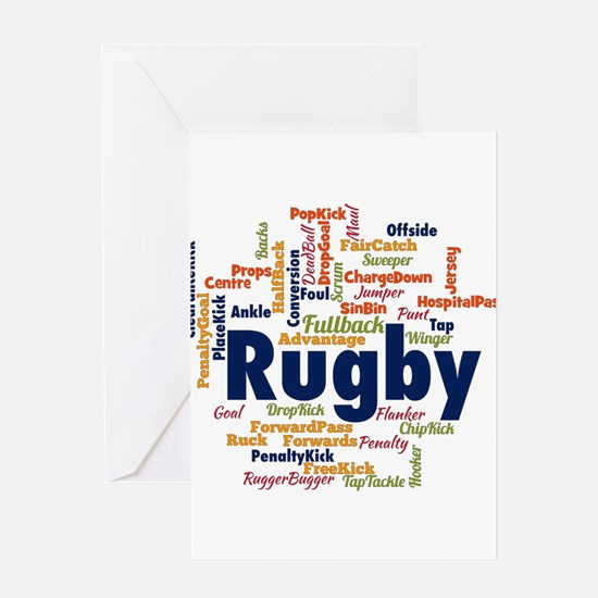 Unique Rugby Greeting Card