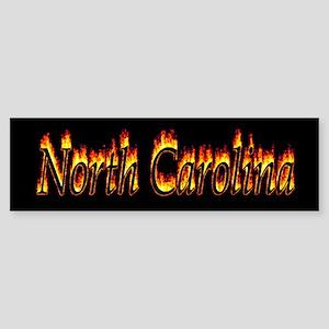 North Carolina Flame Bumper Sticker