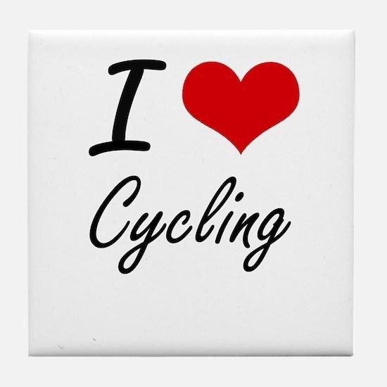 I love Cycling Tile Coaster
