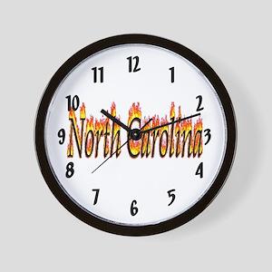 North Carolina Flame Wall Clock