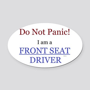 Front Seat Driver Oval Car Magnet