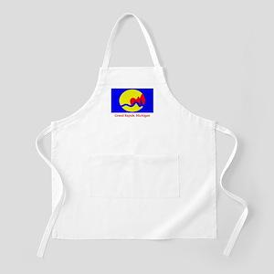 Grand Rapids MI Flag BBQ Apron