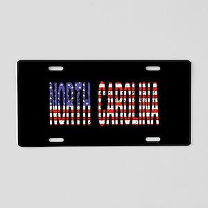 Patriotic North Carolina Aluminum License Plate