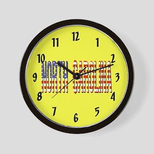 Patriotic North Carolina Wall Clock