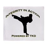 Taekwondo Integrity in Action Throw Blanket