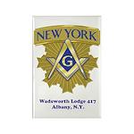 Wadsworth Lodge 417 Rectangle Magnet