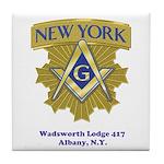 Wadsworth Lodge 417 Tile Coaster