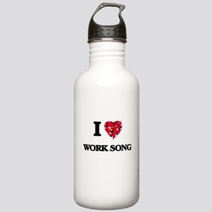 I Love My WORK SONG Stainless Water Bottle 1.0L