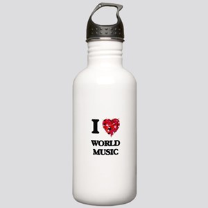I Love My WORLD MUSIC Stainless Water Bottle 1.0L