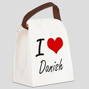 I love Danish Canvas Lunch Bag