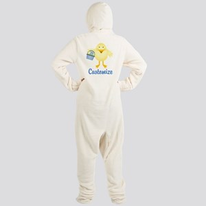 Custom Easter Chick Footed Pajamas