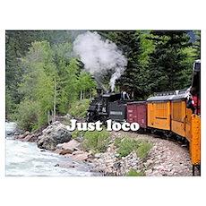 Just loco: Steam train Colorado Poster