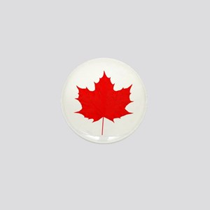 Red Maple Leaf Mini Button