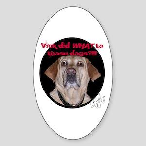 Shocked Dog Oval Sticker