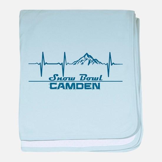 Camden Snow Bowl - Camden - Maine baby blanket