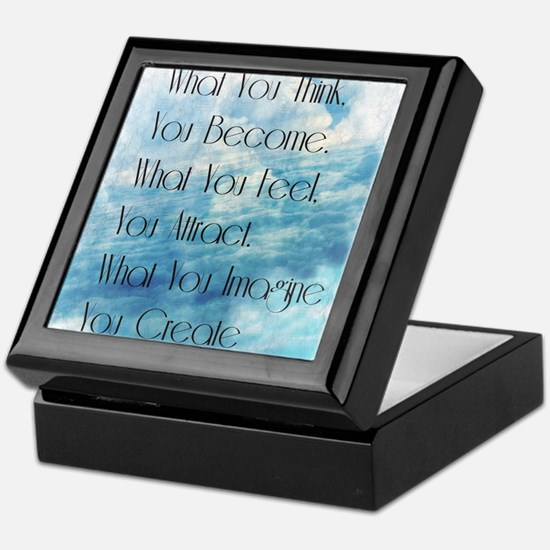 Clouds What You Think You Become Keepsake Box