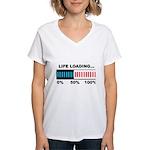 Life Loading Women's V-Neck T-Shirt