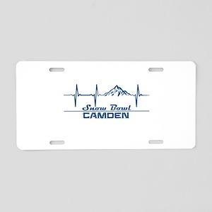 Camden Snow Bowl - Camden Aluminum License Plate