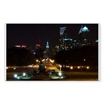 A Night View Of Philly Rectangle Sticker