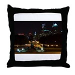 A Night View Of Philly Throw Pillow