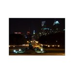 A Night View Of Philly Rectangle Magnet (100 pack)