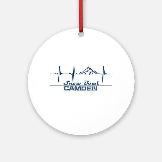 Camden Snow Bowl - Camden - Maine Round Ornament