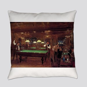 billiards art Everyday Pillow