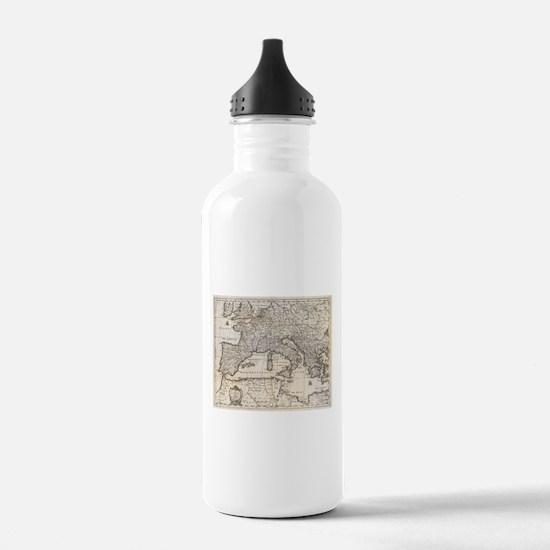 Vintage Map of Europe Water Bottle