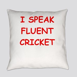 i love cricket Everyday Pillow