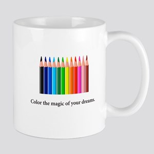 Color The Magic Rainbow Pencil Gifts Mugs