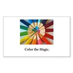 Color The Magic Artists Pencil Gifts Sticker