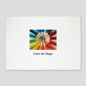 Color The Magic Artists Pencil Gifts 5'x7'Area Rug