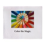 Color The Magic Artists Pencil Gifts Throw Blanket