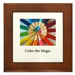 Color The Magic Artists Pencil Gifts Framed Tile