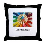 Color The Magic Artists Pencil Gifts Throw Pillow
