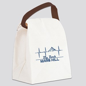 Big Rock - Mars Hill - Maine Canvas Lunch Bag