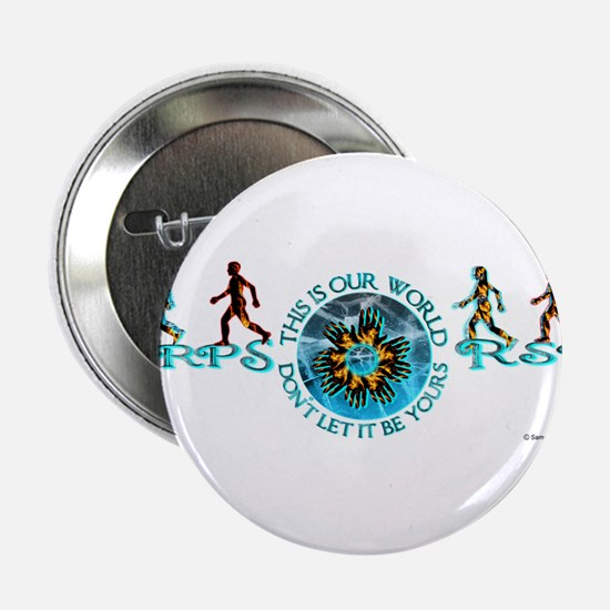 """CRPS RSD Our World Blazing Hands Star 2.25"""" Button"""