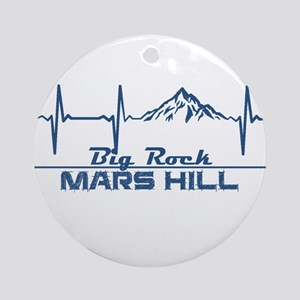 Big Rock - Mars Hill - Maine Round Ornament