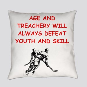 i love hockey Everyday Pillow