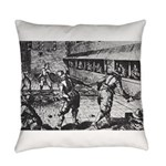 tennis in art Everyday Pillow