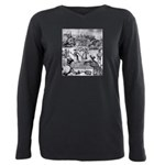 tennis in art Plus Size Long Sleeve Tee