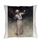 tennis in art Everyday Pillow