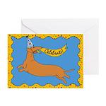 Weiner Dog Happy Birthday Greeting Cards (Pk of 10