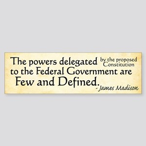 Madison Limited Government Bumper Sticker