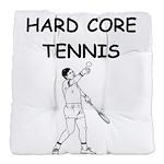 tennis joke Tufted Chair Cushion